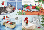 Joulukorttilajitelma 4, kissa-aiheet/ MESSUTARJOUS