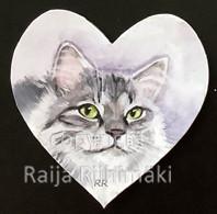 Kissamagneetti sydän nro 22