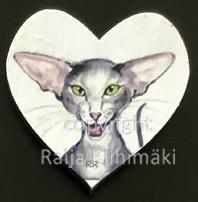 Kissamagneetti sydän nro 23