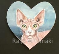 Kissamagneetti sydän nro 24