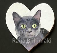 Kissamagneetti sydän nro 26