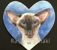 Kissamagneetti sydän nro 27
