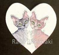 Kissamagneetti sydän nro 29