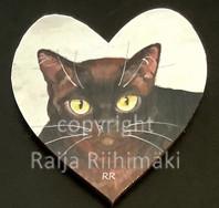 Kissamagneetti sydän nro 30