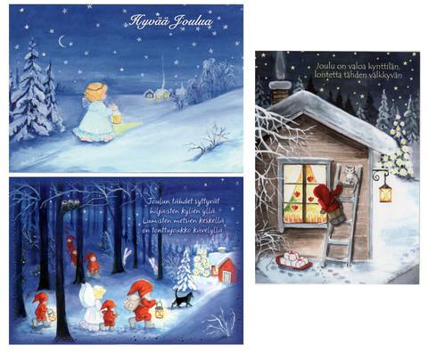 Joulukorttilajitelma 1, perinteiset kortit/TARJOUS