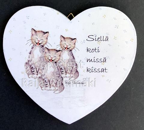 Vanerisydän 3 kissaa