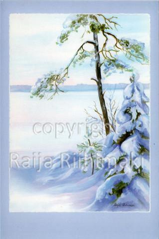 2-osainen kortti talvimaisema