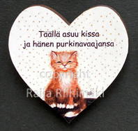 Kissamagneetti sydän nro 1