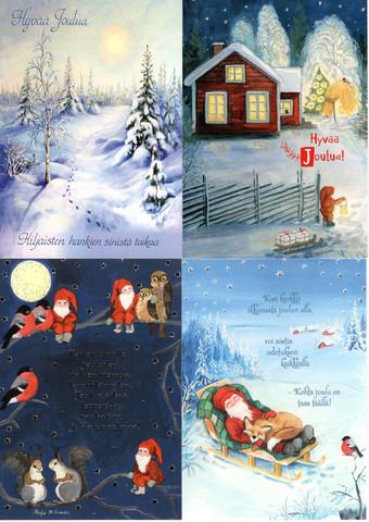 Joulukorttilajitelma 3, perinteiset kortit/ TARJOUS