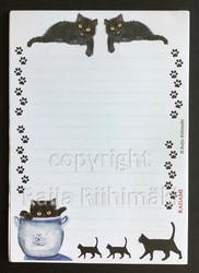 Lehtiö Mustat kissat A5