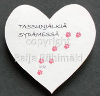 Kissamagneetti sydän nro 16