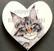 Kissamagneetti sydän nro 19