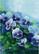 Kukkakortti siniset orvokit