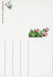 Kukkakortti vaaleanpunaiset ruusut