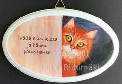 Ovikyltti kissan palvelijat, punainen kissa