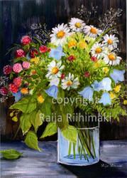 Kukkakortti kesäkukat