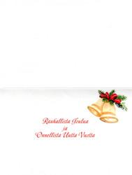 2-osainen joulukortti hevosella joulukirkkoon