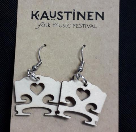 Violin bridge earrings