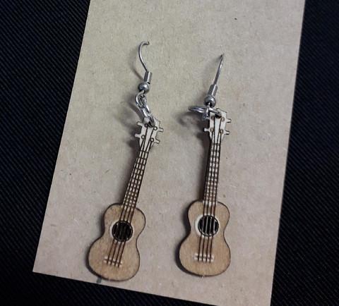 Ukulele earrings