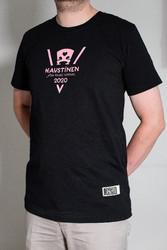 VirtualKaustinen recycled slim t-shirt, asfaltti