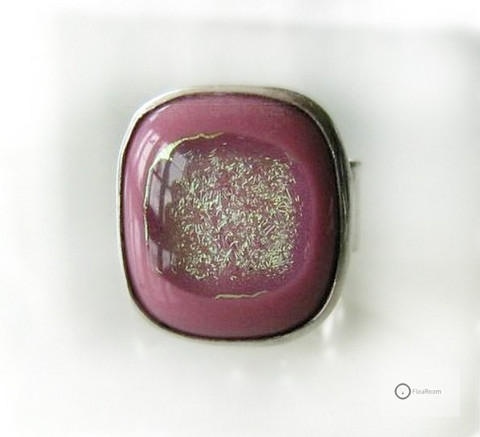 Hopeasormus Pinkki Glitteri Kivi