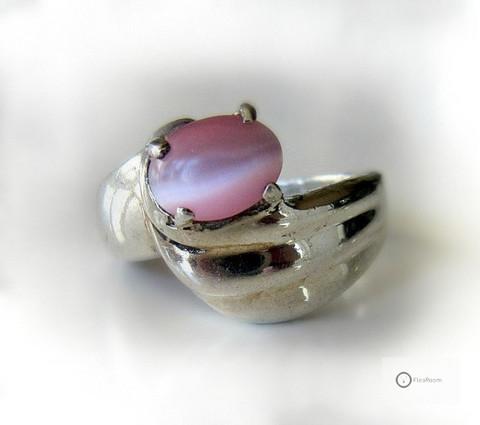 Hopeasormus Pinkki Kissansilmä