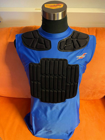 Harness racing jersey blue with cordura (Pro model)