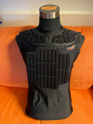Harness racing jersey black with cordura (Pro model)