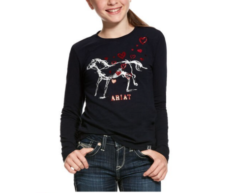 Ariat Pony love tee, tummansininen