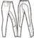 Malli 7/3: saumaton housu kouluratsastuspaikalla