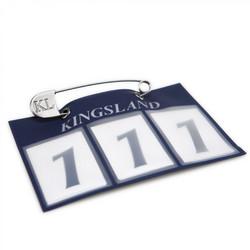 Kingsland numerolappu, kaksi väriä