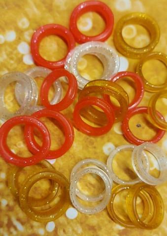 Scissor finger rings S size