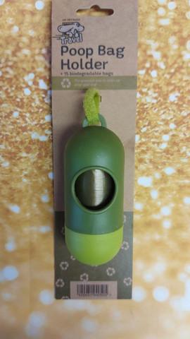 Poop Bag Holder + 15 biodegradable bags