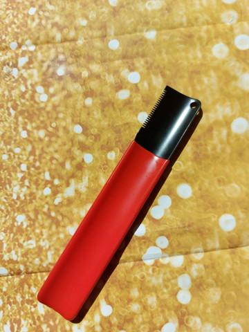 Pohjavillaveitsi tiheä punainen / Red fine stripping knife