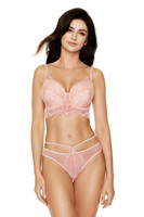 Gorteks Charlize, topatut rintaliivit pink