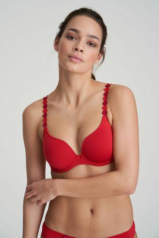 Marie Jo L'aventure TOM Topattu heart shape rintaliivi Punainen