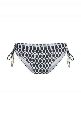 Bikinihousut mustavalkoinen printti, nyörit sivuilla Lingadore