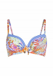 Topattu kaarituellinen bikiniyläosa kauniilla kukkakuviolla Bossa Lingadore