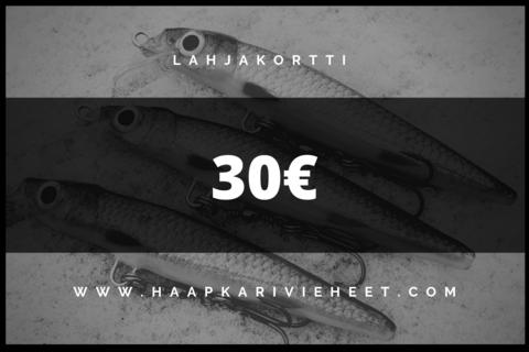 Lahjakortti 30€