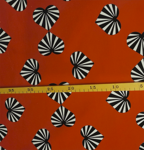 JOUSTOCOLLEGE Onnensydämet punainen leveys n. 160cm