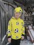 TÄHKÄ Huppari Jalitsu keltainen 86-152cm  joustocollege