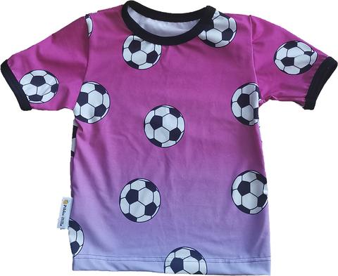 NEVA t-paita Jalitsu pinkki liukuvärjätty 86-140cm trikoo