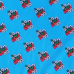 TRIKOO Mansikkakukka sininen lev. n. 160cm