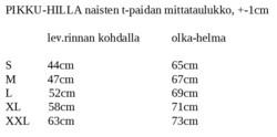 PURO naisten paita Hillat 3/4 hihainen XS-XXL trikoo
