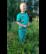 LEHTO housut taskuilla Kaivurit turkoosi 86-152cm trikoo