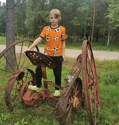 NEVA t-paita Jalitsu oranssi  86-152cm trikoo