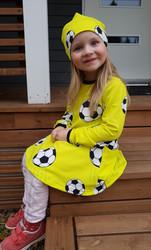 LAINE mekkotunika Jalitsu keltainen 86-152cm joustocollege
