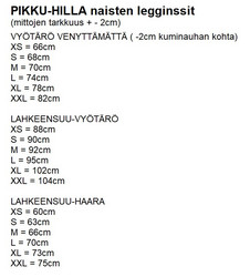 LUMME legginssit Hillat trikoo XS-3XL