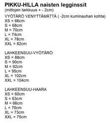 LUMME legginssit Huskyt trikoo XS-3XL