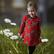 LAINE mekkotunika Onnensydämet punainen 86-152cm lyhyt- ja pitkähih.